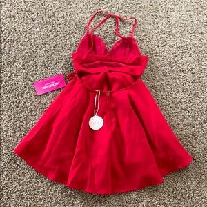 PromGirl Dresses - Short Red Strappy Back Dress